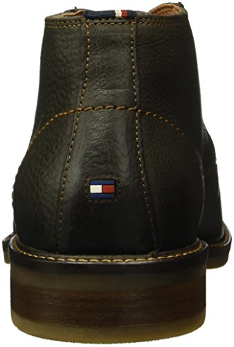 Tommy Hilfiger R2285ounder 3n, Bottes Classiques homme Marron - Braun (Dark Brown 201)