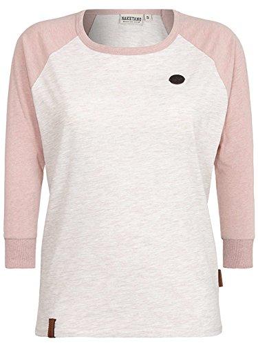 Naketano Damen Shirt 3/4-Arm oma/dusty pink melange