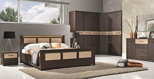 Design Luxus Schlafzimmer Set Stilmöbel Edelholz Komplett Dunkelbraun SL31 NEU!