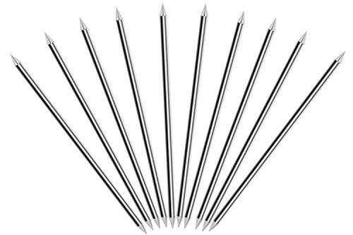 TEN-HIGH Electrodos de tungsteno, Cerio 2%, WC20 (gris) Electrodo de tungsteno de cerio, Electrodos afilados de tungsteno de 2.4mm x85mm, paquete de 10 unidades