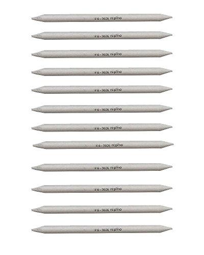 12 Stück Papierwischer Estompen Set Ø 0,6 cm Künstlerbedarf Zeichenmaterial