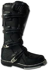 WinNet Stivali per moto da cross motard con protezioni neri, Taglia: 40