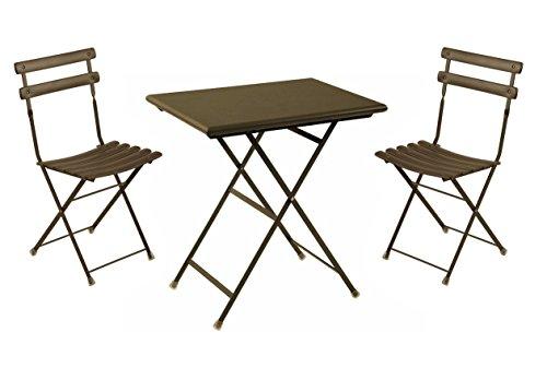 Set arc en ciel emu: 2 sedie pieghevoli art. 314 + 1 tavolo pieghevole cm. 50x70 art. 334 colore marrone d'india codice 41