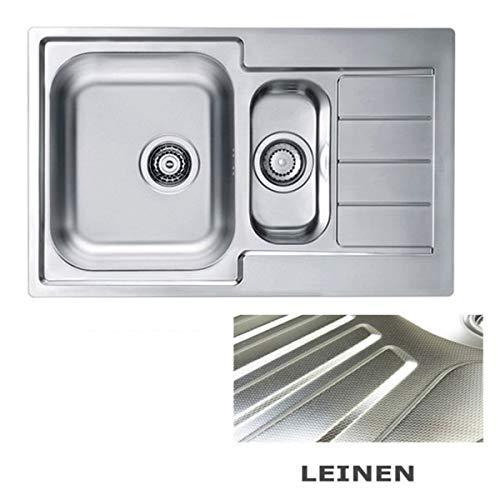 VBChome: Lavello da incasso 790x500 mm Camping Cucina – Struttura in lino Alveus Line 70 lavello in acciaio inox Camping 1,5 vasca scarico