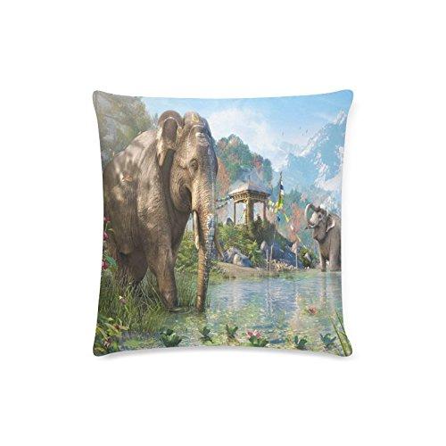 Elephant pillow cover Funda de cojín rectangular para sofá o casa, diseño...