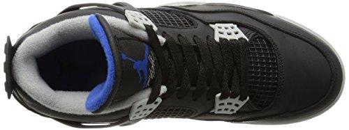 Nike Chaussures Air Jordan 4 Retro Pour Homme en Cuir Noir 308497-006 Nero