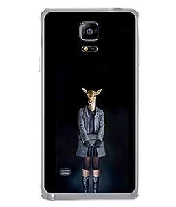 PrintVisa Designer Back Case Cover for Samsung Galaxy Note Edge :: Samsung Galaxy Note Edge N915Fy N915A N915T N915K/N915L/N915S N915G N915D (The Deer Lady Dressed In Boots And Over Coat)