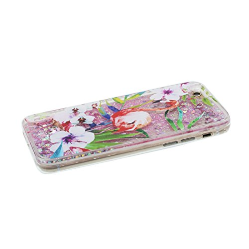 "iPhone 7 Coque, Licorne cheval unicorn Skin Hard Clear étui iPhone 7, Design Glitter Bling Sparkles Shinny Flowing Apple iPhone 7 Case Cover 4.7"", résistant aux chocs et Bouchon anti-poussière Grand Flamant"