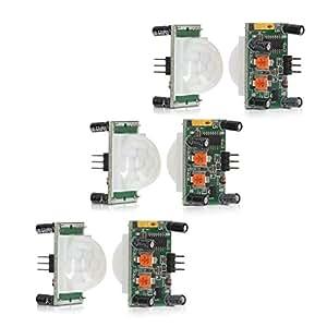 kwmobile 3x PIR Motion Sensor Bewegungssensor HC-SR501 mit digitalem Ausgang, Sensor für Arduino, Genuino und Raspberry Pi
