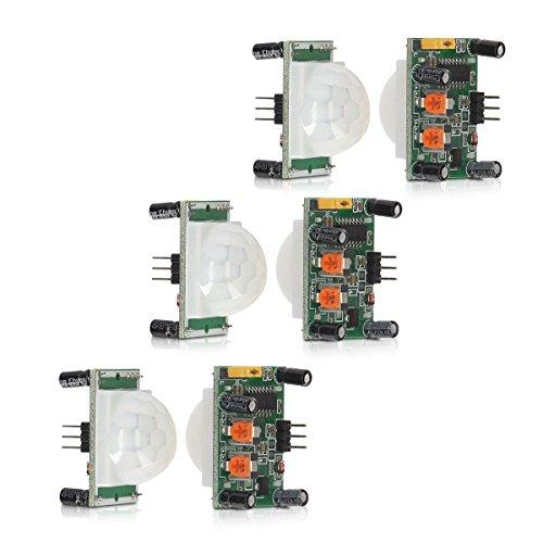 kwmobile 3X PIR Motion Sensor Bewegungssensor HC-SR501 mit digitalem Ausgang, Sensor für Arduino, Genuino und Raspberry Pi - Pir-systems