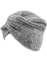 GIANMARCO VENTURI Cappello donna 100% acrilico cuffia a maglia in box 71796  gry f515444dbae6