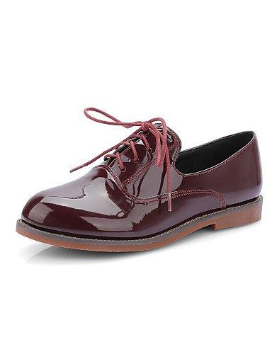 WSS 2016 Chaussures Femme-Habillé / Décontracté-Noir / Rouge / Beige-Talon Bas-Talons / Bout Arrondi-Talons-Similicuir beige-us9.5-10 / eu41 / uk7.5-8 / cn42