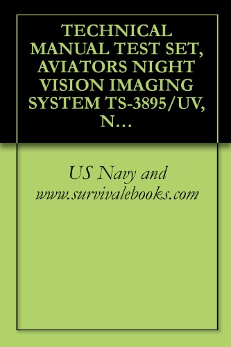 TECHNICAL MANUAL TEST SET, AVIATOR'S NIGHT VISION IMAGING SYSTEM TS-3895/UV, NA-16-30-AVS-4, TEST SET, ELECTRONICS SYSTEM (English Edition) Electronic Technical Manual
