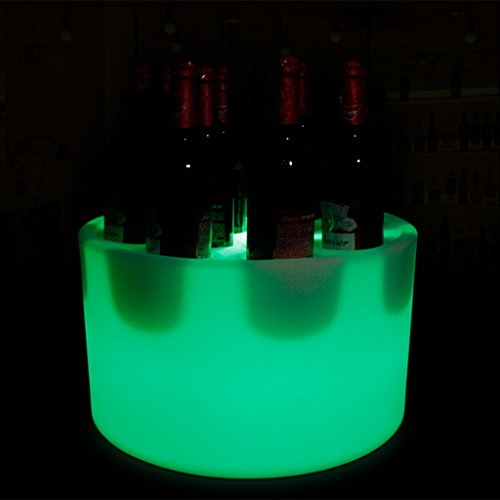 Augrous LED Kreisförmig Tabletts Kreisförmig Wasserdicht Kunststoff 16 Farbe Ändern Wein Show Stand mit Fernbedienung zum Bar Parteien Dekoration (Farbe : 12