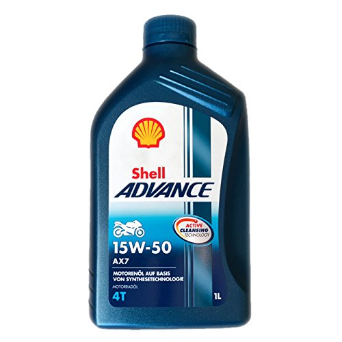 Shell Advance 4T AX7 15W50 Semisinthetic Motorcycle Oil 1 Litro