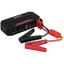 Suaoki T3 - Jump Starter 18000mAh Batería Arranque Kit 600A Arrancador Pack Para Coche (Batería portátil, 12/16/19V, Multifuncional)