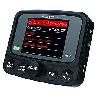 Albrecht DR56+ Adapter zum Aufrüsten von Auto-Radios, FM-Transmitter für DAB+ Sender und Bluetooth-Verbindung vom Smartphone zum UKW-Radio