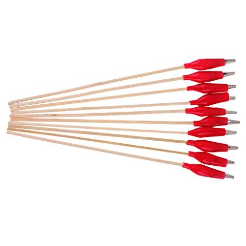 Sharplace 10X Alligator Clip Aérographe professionnel pour Peinture Coloration Modèle - Rouge