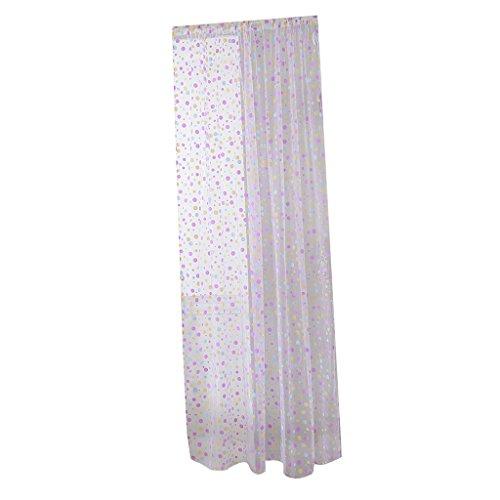 2x1mt tende voile a pois tulle organza viola decorazioni porta finestra