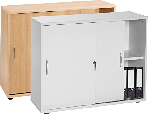 VCM VCM Sideboard Ordner Schrank Akten Büro Möbel Regal mit Schiebetüren 'Aktano 470'...
