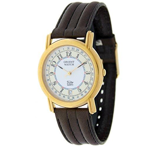 Orient Watch B-67rk-5-2 Reloj Analogico Unisex Caja De Dorado Esfera Color Beige
