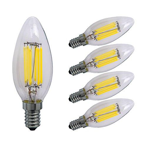 Sagel C35 E14 LED Vela Bombillas 6W, 60W Incandescente Bombillas Equivalentes, 600 lm, Blanco Frío 6000K, Regulable Lámpara LED, Pack de 5