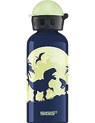 SIGG Glow Moon Dinos, Borraccia bambini, 0,4 L, Antigoccia, Senza BPA, Alluminio, Blu