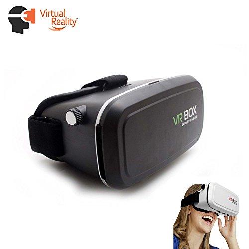 VR Gafas de 3d, Virtual Reality Google Cardboard para 4modelos hasta 6,5pulgadas Smartphone como por ejemplo Samsung Galaxy S5, S6, S7, Edge Plus, iPhone 5, 6, 7Plus y HTC M9, M10, One u.v.a., Nuevo