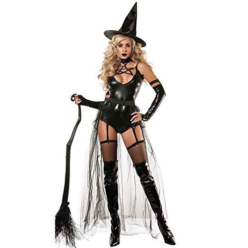 Costume cosplay costume sexy di Halloween Costume da strega siamese del diavolo (Color : Black, Size : M)