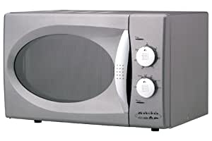 Hinari Lifestyle MX704CSL Manual Microwave Oven 800W Silver (Chrome Door Handle & Control Button)