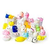 Juguetes Mochi Squishys - Pack De 30 Squishys - Gato Mochi Squishy, Squishy Panda, Animales Mochi - Squishys Kawaii Jumbo - Squishys Para Llavero Correa