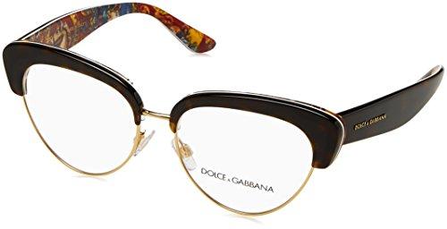 Dolce & Gabbana - SICILIAN CARRETTO DG 3247, Schmetterling, Acetat, Damenbrillen, HAVANA HANDCART(3037), 53/16/140