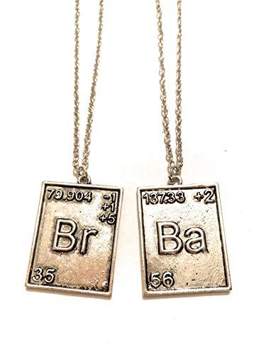 Halskette Metall Nickel Free Breaking Bad Brom Barium chemische Elemente Logo Serie TV Fantasy Cosplay
