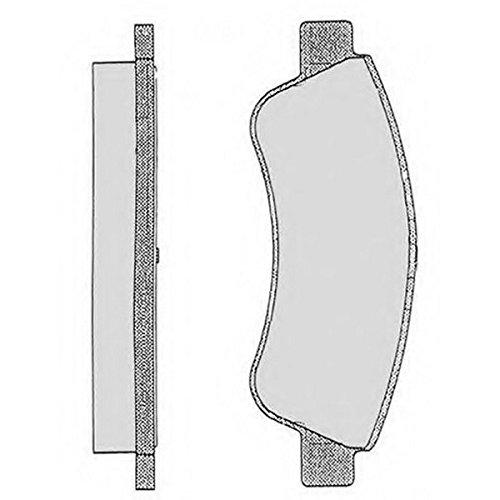PE07250RB-4572 Kit pastiglie freno Anteriore Permafuse