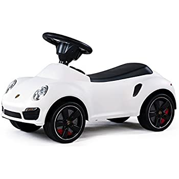 kids children s push seating large white car porsche 911 turbo s