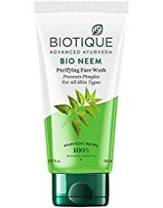 Biotique Bio Neem Purifying Face Wash for All Skin Types, 150ml