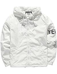 Sweat-shirt à capuche homme jacket sport zip hooded impermeable manche longue imprimé cooshional