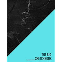 The Big Sketchbook: Blue Black Marble Drawing NotepadSketching, Drawing, Creative Doodling to Draw and Journal