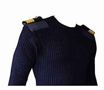 Generic Men's and Women's Cotton Nautical Sweater Epaulets