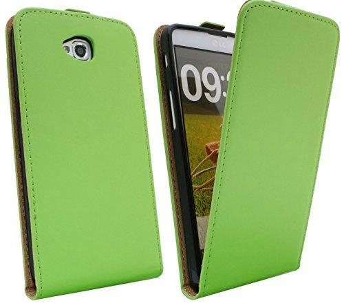 Handytasche Flip Style für LG G PRO LITE DUAL D686 in Grün Klapptasche Hülle @ Energmix
