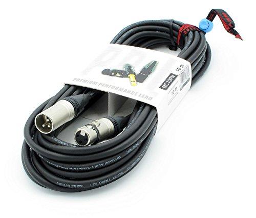 X LEAD MC10PN100BK serie PLATINUM cavo per microfonico professionale di alta qualità XLR/XLR cavo bilanciato con connettori originali NEUTRIK