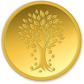 Kundan 4 gm Kalpataru Tree 24KT  999.9  Yellow Gold Coin