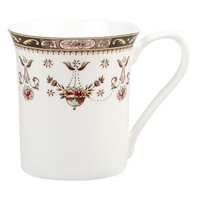 Queens Classic Olde England Royale Shaped Fine Bone China Mug, White