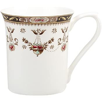 queens classic olde england royale shaped fine bone china mug white