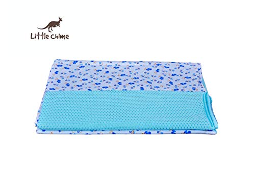 Little Chime Ventilated Cradle (Jhula) comprising of Cradle Cloth (Blue Cloth)