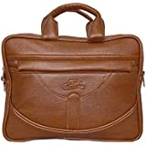 Leather World Tan Pu Leather Mini 12 Inch Laptop Office Bag | Tablet Bag | I Pad Bag For Men And Women