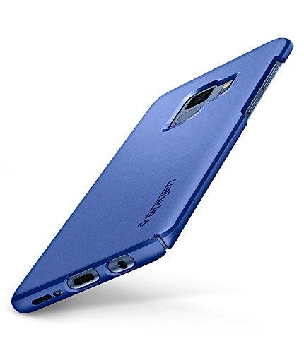 Spigen Thin Fit Samsung Galaxy S9 Hülle (592CS22822) Passgenau Hart PC Hardcase Schutzhülle Schale Schlanke Handyhülle Case (Coral Blue) (Blue Handy)
