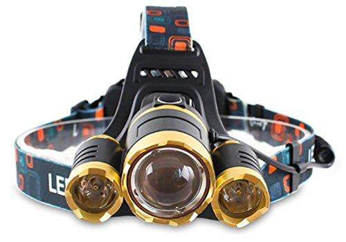 3000 Lumen Scheinwerfer, Taschenlampe 3 XM-L T6 LED, Wand-Ladegerät und der Akku, Wandern, Camping, Reiten, Angeln, Jagen, Outdoor-Abenteuer.
