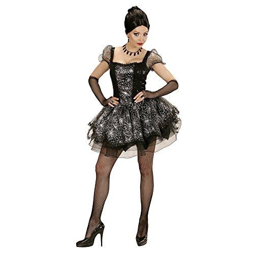 chsenenkostüm Spider Lady, Kleid und fingerlose Handschuhe, Größe S (Spider Lady Kostüm Halloween)