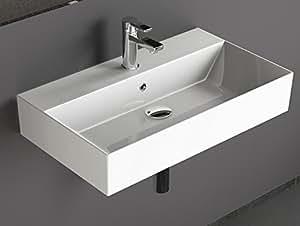 aqua bagno design waschbecken aufsatzbecken 70x42cm keramik wei waschtisch waschschale. Black Bedroom Furniture Sets. Home Design Ideas